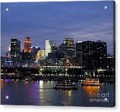 Evening On The River Acrylic Print by Mel Steinhauer
