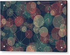 Evening Polygon Circle Pattern Acrylic Print by Frank Ramspott