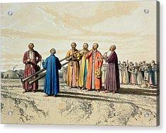 Evening Prayer Among The Kalmuks, Using Acrylic Print by Francois Fortune Antoine Ferogio