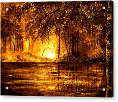 Evening Reflections Acrylic Print by Ann Marie Bone