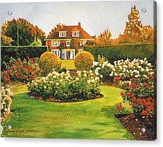 Evening Rose Garden Acrylic Print by David Lloyd Glover