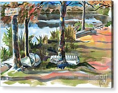 Evening Shadows At Shepherd Mountain Lake  No W101 Acrylic Print by Kip DeVore