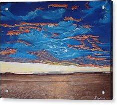 Evening Sky Acrylic Print by Harvey Rogosin
