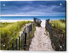 Flying Point Beach Vista Acrylic Print by Ryan Moore