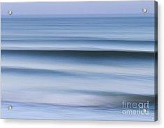 Evening Waves Acrylic Print by Katherine Gendreau