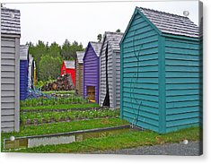 Every Garden Needs A Shed And Lawn Two In Les Jardins De Metis/reford Gardens Near Grand Metis-qc Acrylic Print by Ruth Hager