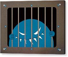 Evil Monster Kingpin Jailed Acrylic Print by Boriana Giormova