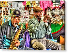 Excelsior Band Horn Players Acrylic Print by Michael Thomas