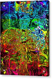 Excitement Sweeps The Room Acrylic Print by Johnny Trippick