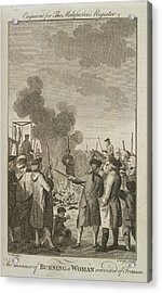 Execution By Burning Acrylic Print by British Library