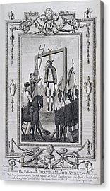 Execution Of Major Andre Acrylic Print by British Library