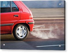 Exhaust Fumes From A Car Exhaust Acrylic Print by Ashley Cooper