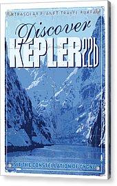 Exoplanet 02 Travel Poster Kepler 22b Acrylic Print by Chungkong Art