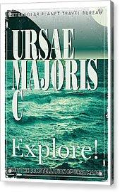Exoplanet 03 Travel Poster Ursae Majoris Acrylic Print by Chungkong Art