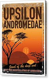 Exoplanet 06 Travel Poster Upsilon Andromedae 4 Acrylic Print by Chungkong Art