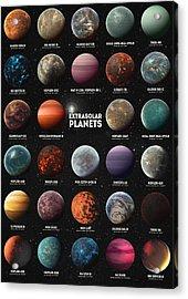 Exoplanets Acrylic Print by Taylan Soyturk