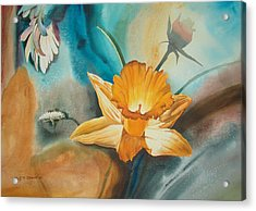 Exploding Floral Acrylic Print by John Norman Stewart