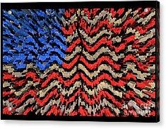 Exploding With Patriotism Acrylic Print by John Farnan