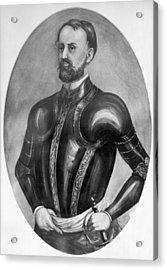 Explorer Hernando De Soto Acrylic Print by Underwood Archives