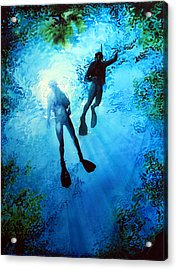 Exploring New Worlds Acrylic Print by Hanne Lore Koehler