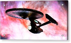 Exploring The Galactic Barrier Acrylic Print by Jason Politte