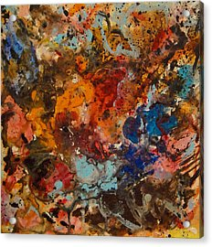 Explosive Chaos Acrylic Print by Natalie Holland