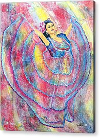 Expressing Her Passion Acrylic Print by Susan DeLain