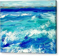 Expressive Sea  Acrylic Print by JC Strong