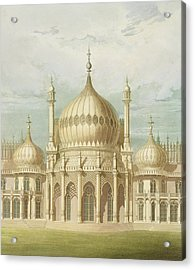Exterior Of The Saloon From Views Of The Royal Pavilion Acrylic Print by John Nash