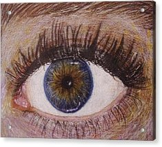 Eye Drawing Acrylic Print by Savanna Paine
