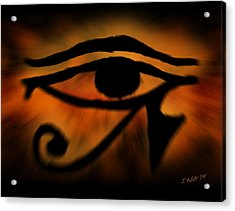 Eye Of Horus Eye Of Ra Acrylic Print by John Wills