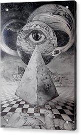 Eye Of The Dark Star - Journey Through The Wormhole Acrylic Print by Otto Rapp