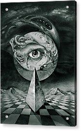 Eye Of The Dark Star Acrylic Print by Otto Rapp