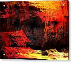 Eye Of The Storm 2 - Blown Away - Abstract - Fractal Art Acrylic Print by Andee Design