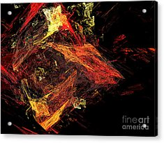 Eye Of The Storm 3 - Mass Chaos - Abstract - Fractal Art Acrylic Print by Andee Design