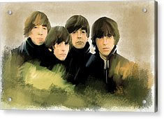 Eye Of The Storm The Beatles Acrylic Print by Iconic Images Art Gallery David Pucciarelli