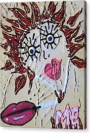 Eye Smoke Discrimination  Acrylic Print by Lisa Piper Menkin Stegeman