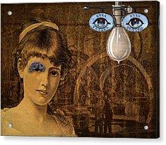 Eye Test Steampunk Acrylic Print by Bellesouth Studio
