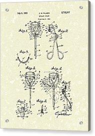 Eyelash Curler 1955 Patent Art Acrylic Print by Prior Art Design