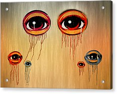 Eyes Acrylic Print by Steven  Michael