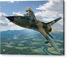 F-105d Thunderchief Mary Kay Acrylic Print by Stu Shepherd