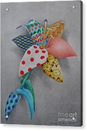Fabric Lily Acrylic Print by Charity Goodwin