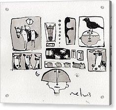 Fabula No. 1  Acrylic Print by Mark M  Mellon