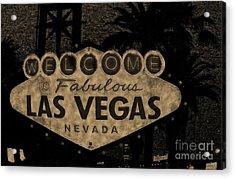 Fabulost Vegas Spelling Correct Acrylic Print by John Malone