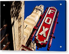 Fabulous Fox In Atlanta Acrylic Print by Mark E Tisdale