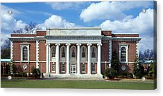 Facade Of A Library, Lilly Library Acrylic Print by Panoramic Images