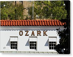 Facade Of The Ozark Bathhouse Acrylic Print by Panoramic Images