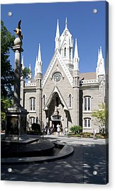 Facade Of The Salt Lake Assembly Hall Acrylic Print by Panoramic Images
