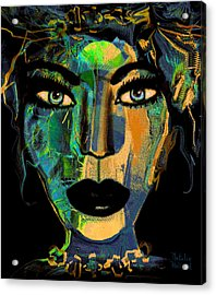 Face 16 Acrylic Print by Natalie Holland