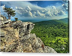 Face In The Cliff Acrylic Print by Adam Jewell